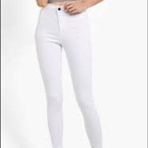Topshop White Joni Jeans